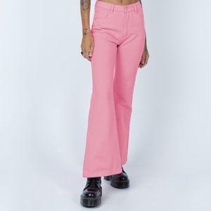 Princess Polly- Cabarita Lounge Denim Jeans Pink